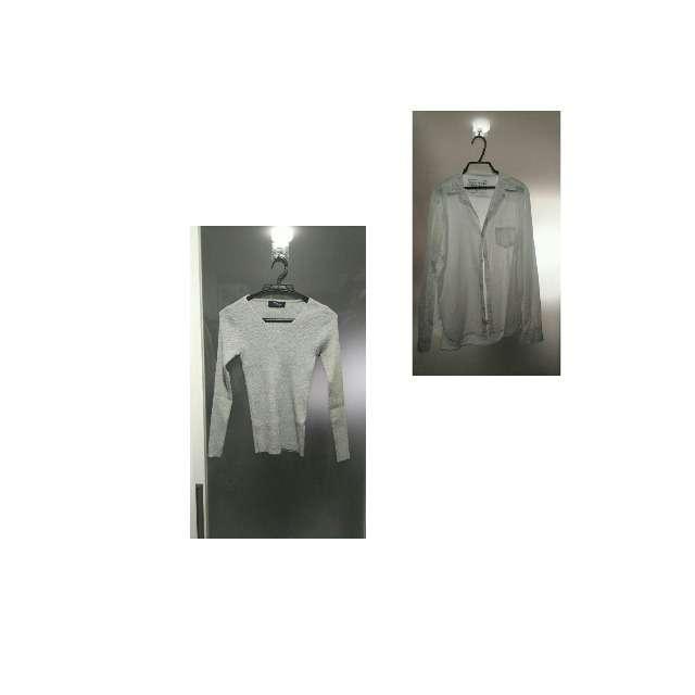ニット/セーター、DONOBANのシャツ/ブラウス等を使ったコーデ画像