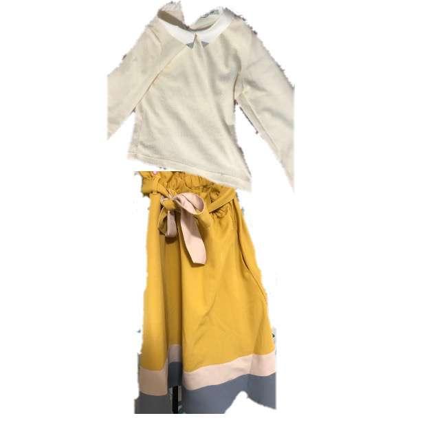 POU DOU DOUのシャツ/ブラウス、POU DOU DOUのスカート等を使ったコーデ画像
