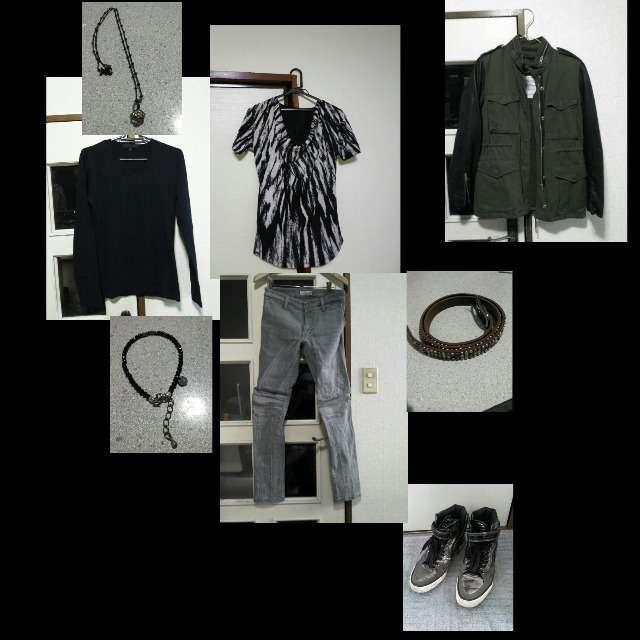 FUGAのTシャツ/カットソー、CIVARIZEのTシャツ/カットソー等を使ったコーデ画像