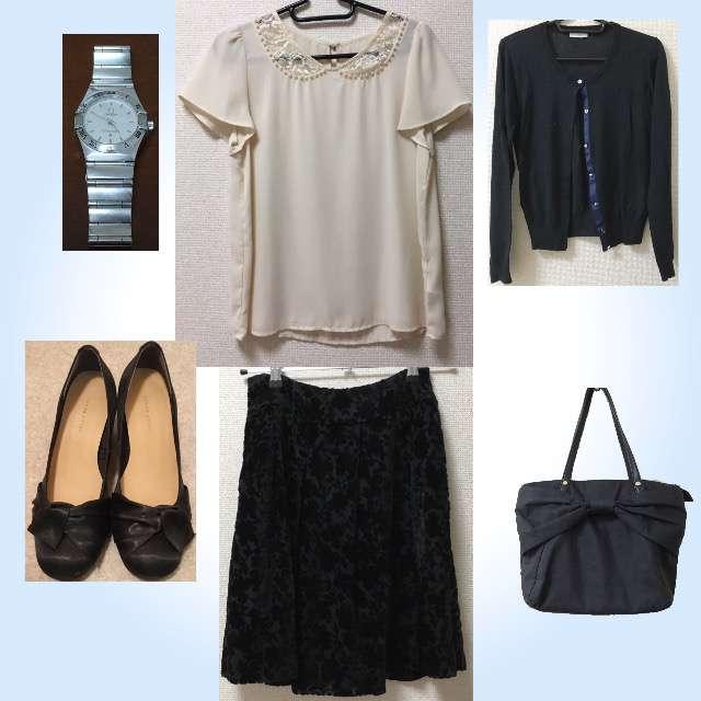 「シンプル、オフィス」に関するROPE' PICNICのTシャツ/カットソー、INDEXのカーディガン等を使ったコーデ画像