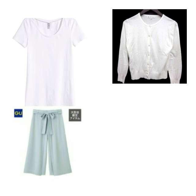 H&MのTシャツ/カットソー、RETRO GIRLのカーディガン等を使ったコーデ画像