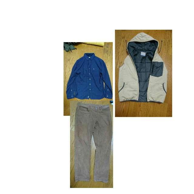 BEAMSのダウンベスト、Arnold Palmerのポロシャツ等を使ったコーデ画像