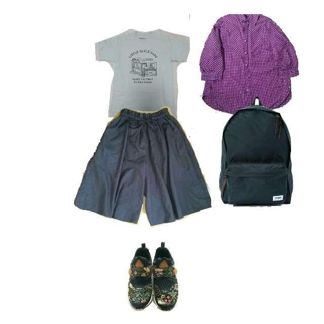 GO HEMPのシャツ/ブラウス、SHIPS DaysのTシャツ/カットソー等を使ったコーデ画像