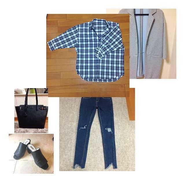 ROPE' PICNICのシャツ/ブラウス、GALLERIEのスキニーパンツ等を使ったコーデ画像