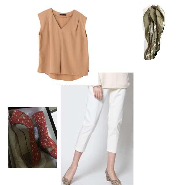 Aqua Garageのシャツ/ブラウス、titivateのクロップドパンツ等を使ったコーデ画像