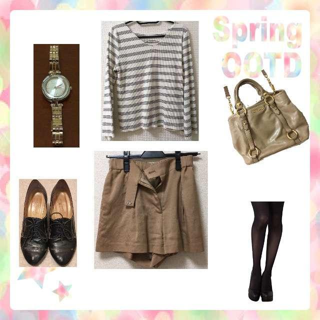 「シンプル、休日」に関するDiscoatのTシャツ/カットソー、snidelのショートパンツ等を使ったコーデ画像