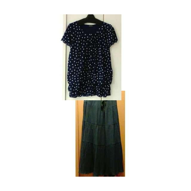 シャツ/ブラウス、マキシ丈スカート等を使ったコーデ画像
