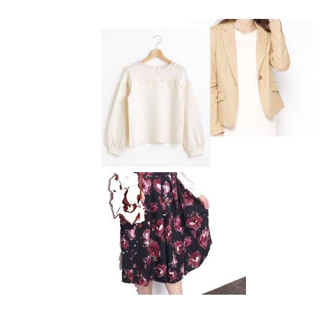 MAJESTIC LEGONのTシャツ/カットソー、ROPE' PICNICのミモレ丈スカート等を使ったコーデ画像