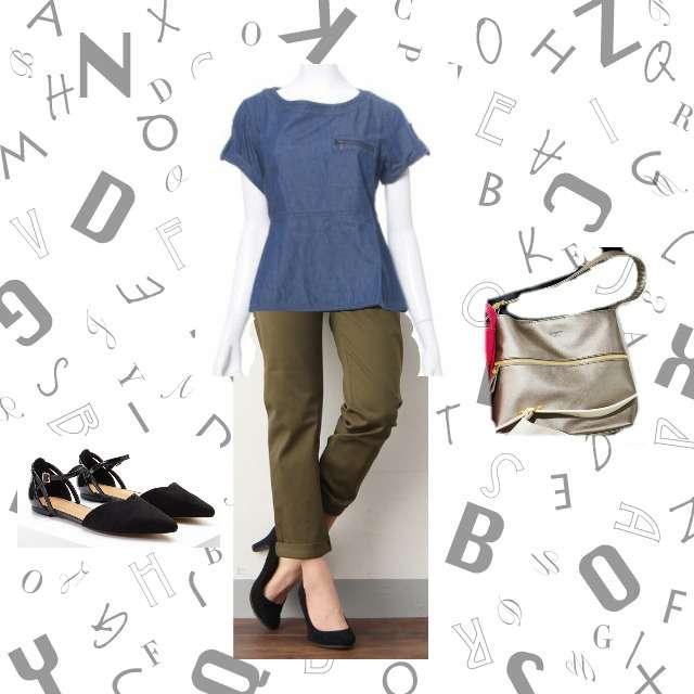 FELISSIMOのシャツ/ブラウス、HONEYSのテーパードパンツ等を使ったコーデ画像