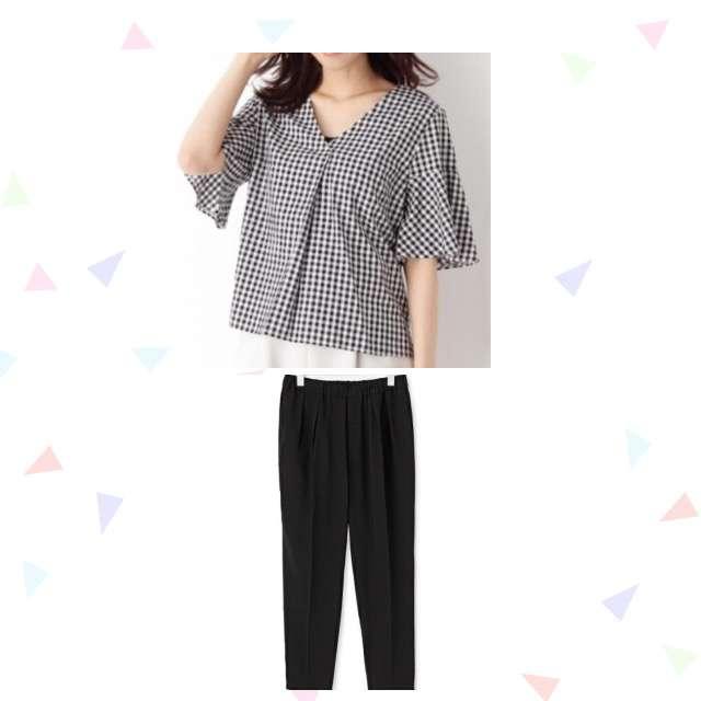 OPAOUE CLIPのシャツ/ブラウス、クロップドパンツ等を使ったコーデ画像
