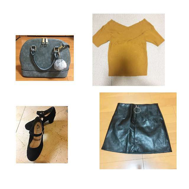 Tシャツ/カットソー、SPIGAのミニスカート等を使ったコーデ画像