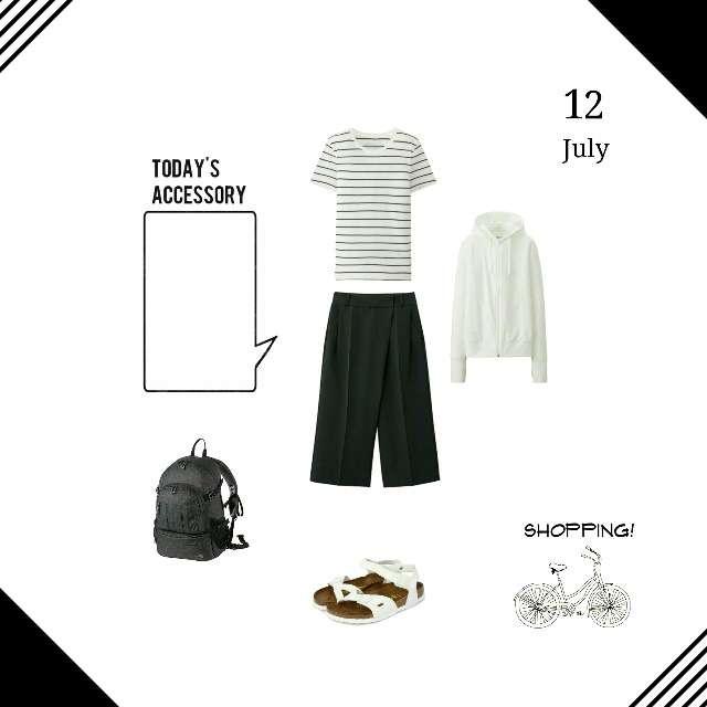 「シンプル」に関するMUJIのTシャツ/カットソー、UNIQLOのパーカー/スウェット等を使ったコーデ画像