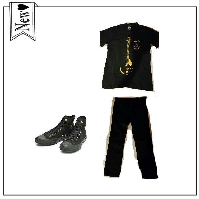 「おでかけ、黒スキニー」に関するUNIQLOのTシャツ/カットソー、UNIQLOのスキニーパンツ等を使ったコーデ画像