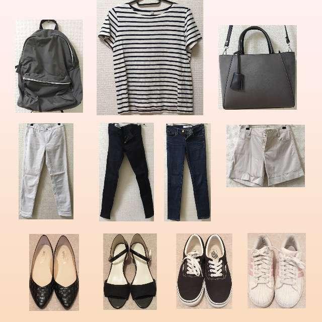 「シンプル、休日」に関するUNIQLOのTシャツ/カットソー、SLYのスキニーパンツ等を使ったコーデ画像