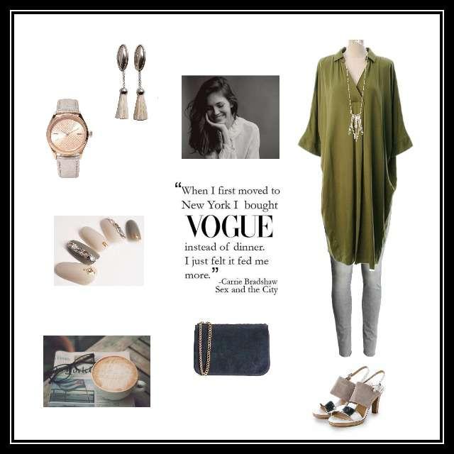 「シンプル」に関するH&Mのスキニーパンツ、philterのシャツワンピ等を使ったコーデ画像