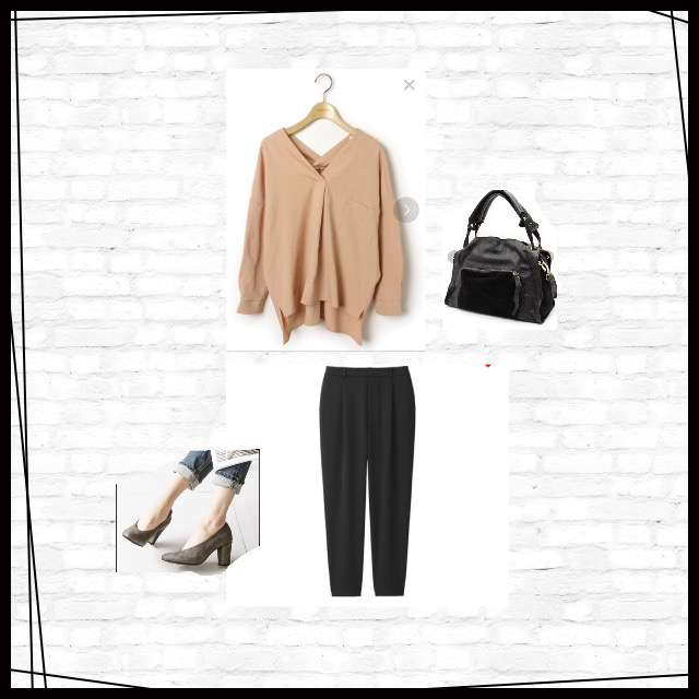 「シンプル、ディナー」に関するLuzLlenaのシャツ/ブラウス、UNIQLOのジョガーパンツ等を使ったコーデ画像