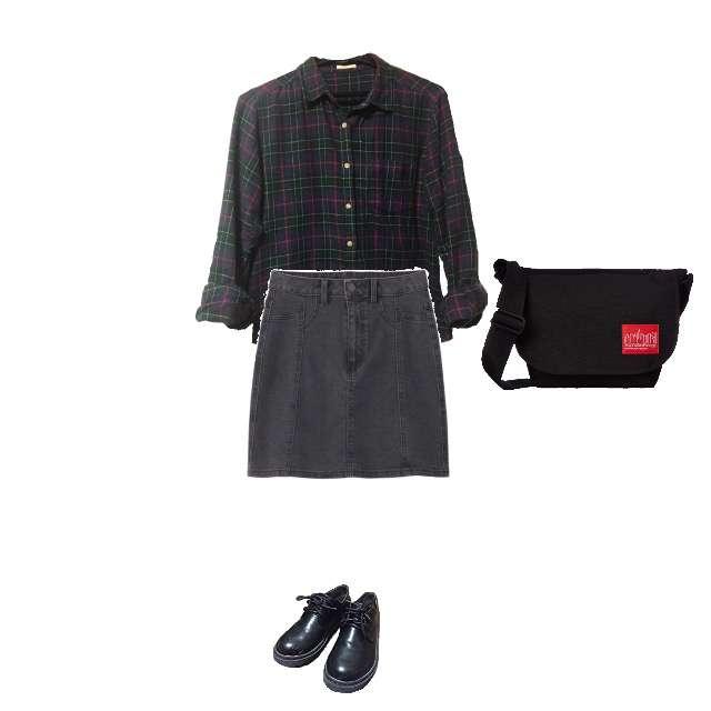 GUのシャツ/ブラウス、GUのタイトスカート等を使ったコーデ画像