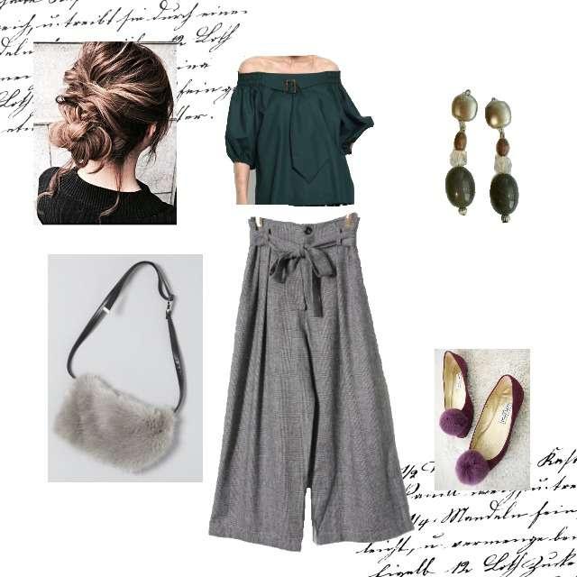 「シンプル」に関するAG by aquagirlのシャツ/ブラウス、EMSEXCITEのワイドパンツ等を使ったコーデ画像
