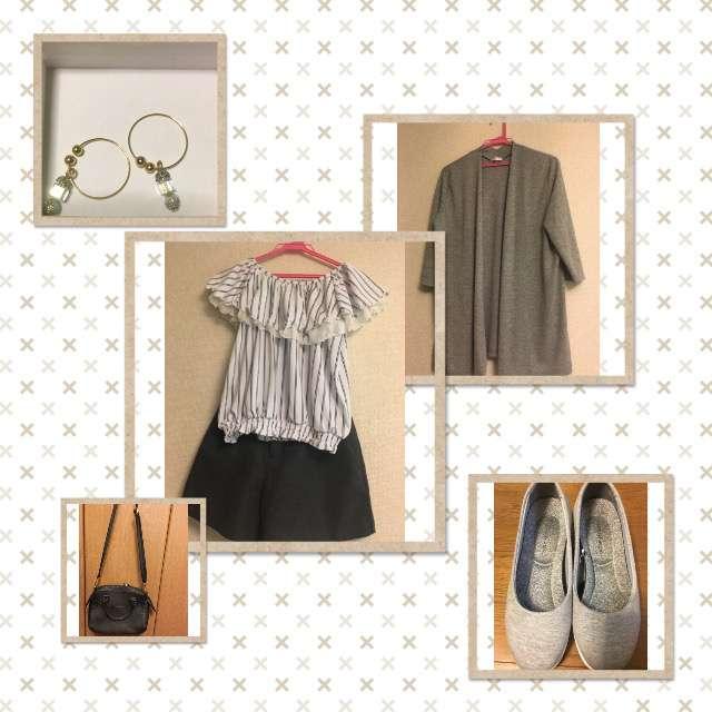 「ナチュラル・リラックス、女子会」に関するHanys Closetのカーディガン、HONEYSのセットアップ等を使ったコーデ画像
