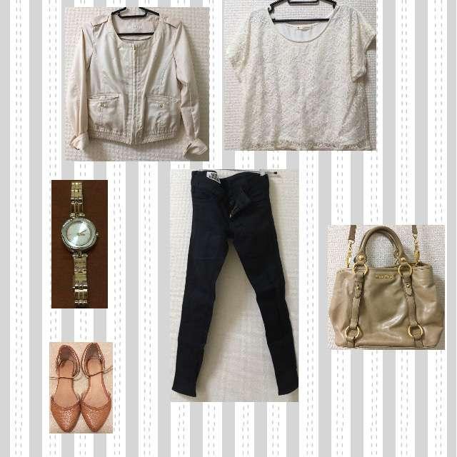 「シンプル、休日、春秋」に関するMAJESTIC LEGONのTシャツ/カットソー、SLYのスキニーパンツ等を使ったコーデ画像