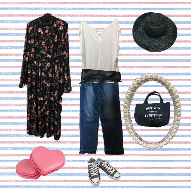 「カジュアル」に関するPinky&DianneのTシャツ/カットソー、Pinky&Dianneのデニムパンツ等を使ったコーデ画像