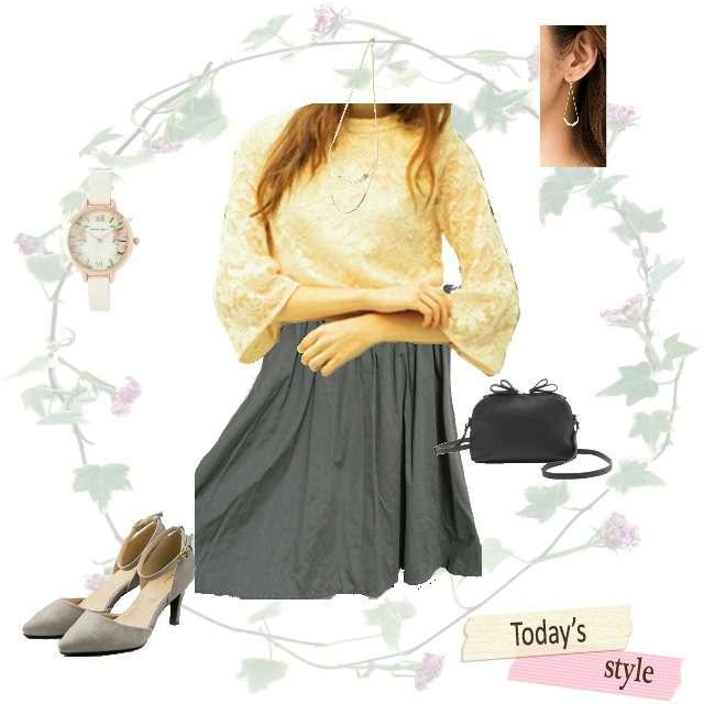 「コンサバ・エレガント」に関するMIIAのシャツ/ブラウス、ingのひざ丈スカート等を使ったコーデ画像