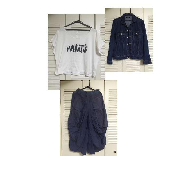 NissenのTシャツ/カットソー、ワイドパンツ等を使ったコーデ画像