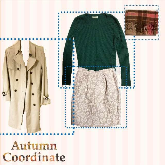 「ガーリー・フェミニン、デート」に関するニット/セーター、31 sons de modeのタイトスカート等を使ったコーデ画像
