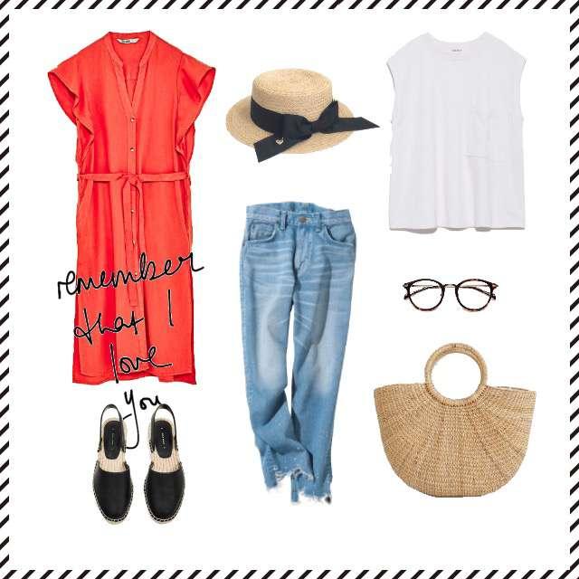 「カジュアル、女子会、大人カジュアル」に関するMila OwenのTシャツ/カットソー、Leeのデニムパンツ等を使ったコーデ画像
