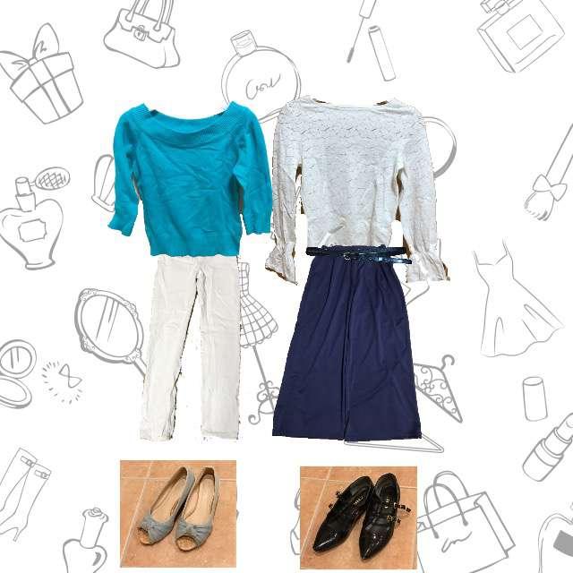 GUのシャツ/ブラウス、ニット/セーター等を使ったコーデ画像