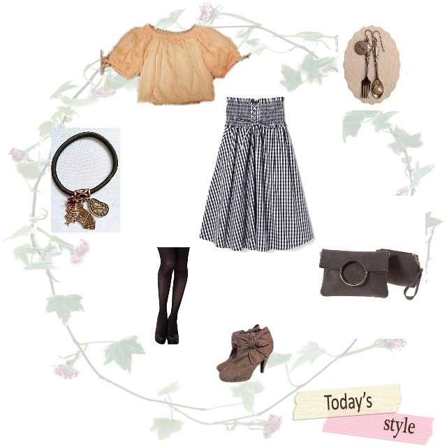 PROPORTION BODY DRESSINGのトップス、FREE'S MARTのミモレ丈スカート等を使ったコーデ画像