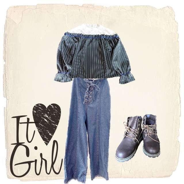axes femmeのシャツ/ブラウス、ワイドパンツ等を使ったコーデ画像