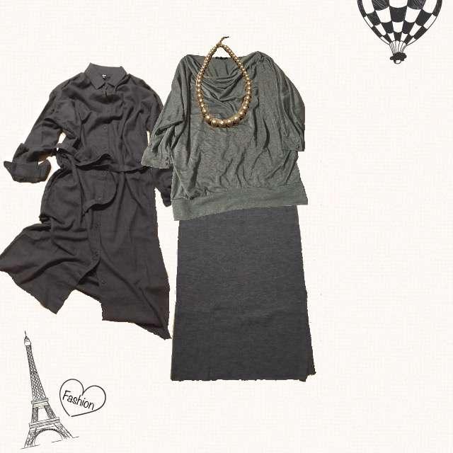 「カジュアル、休日」に関するLOUNIEのTシャツ/カットソー、UNIQLOのマキシ丈スカート等を使ったコーデ画像