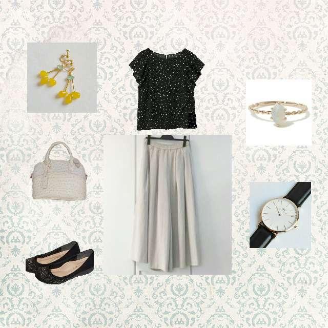 「コンサバ・エレガント、ディナー」に関するGUのシャツ/ブラウス、UNIQLOのスカパン等を使ったコーデ画像