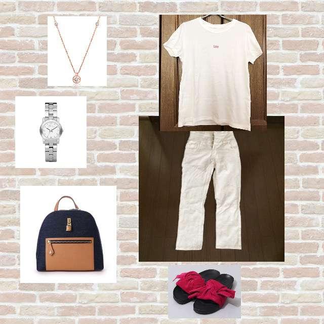 Discoat petitのTシャツ/カットソー、パンツ等を使ったコーデ画像