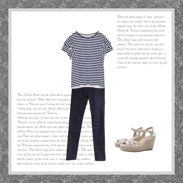 「シンプル、オフィス」に関するZARAのTシャツ/カットソー、UNIQLOのデニムパンツ等を使ったコーデ画像