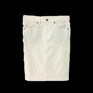 このコーデで使われているGUのデニムスカート[ホワイト]
