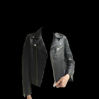 このコーデで使われているaquagirlのライダースジャケット[ブラック]