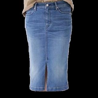 このコーデで使われているnano・universeのデニムスカート[ブルー]