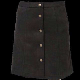 このコーデで使われているWEGOのひざ丈スカート[ブラック]