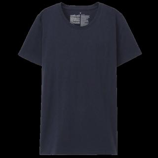 このコーデで使われているMUJIのTシャツ/カットソー[ネイビー]