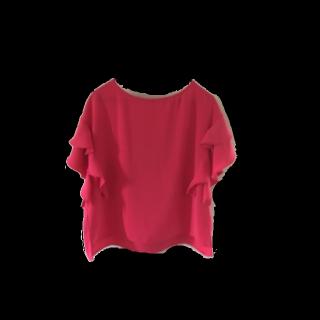 このコーデで使われているしまむらのシャツ/ブラウス[ピンク/レッド]