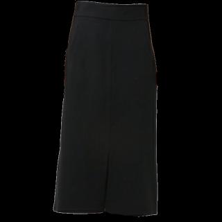 このコーデで使われているIENA SLOBEのミモレ丈スカート[ブラック]