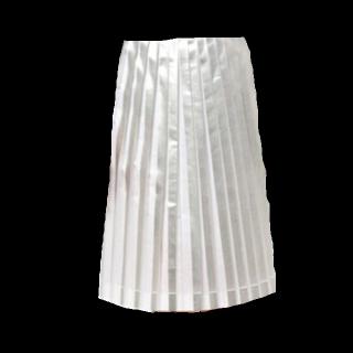 このコーデで使われているミモレ丈スカート[シルバー]