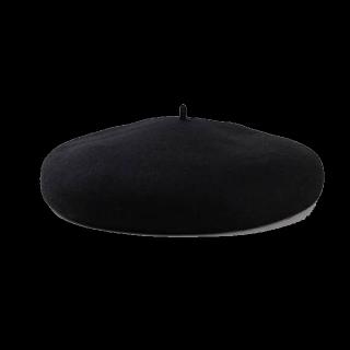 このコーデで使われている3COINSのベレー帽[ブラック]