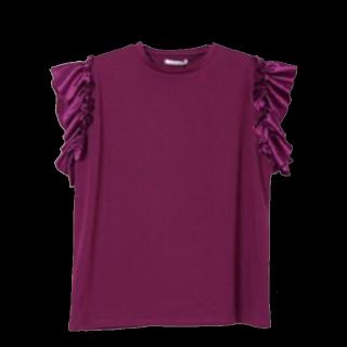 このコーデで使われているe-zakkamania storesのTシャツ/カットソー[パープル/ボルドー]
