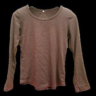 このコーデで使われているTシャツ/カットソー[ブラウン]