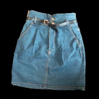 このコーデで使われているINGNIのタイトスカート[ブルー]