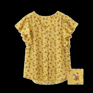 このコーデで使われているGUのシャツ/ブラウス[イエロー]