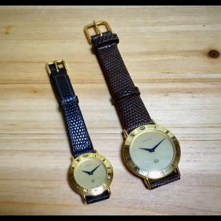 このコーデで使われているGUCCIの腕時計[ブラウン/ゴールド]